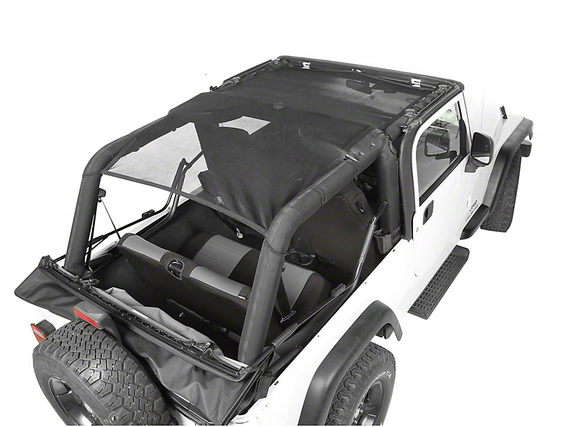 Rugged Ridge Full-Length Eclipse Sun Shade - Black (04-06 Jeep Wrangler TJ Unlimited)