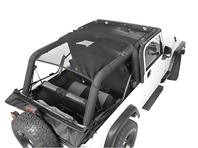 Rugged Ridge Full Cover Eclipse Sun Shade - Black (04-06 Jeep Wrangler TJ Unlimited)