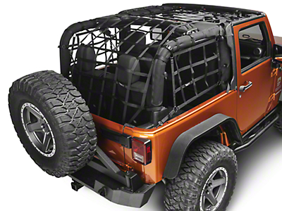Rugged Ridge Cargo Net - Black (07-18 Jeep Wrangler JK 2 Door)