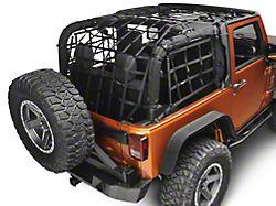 Rugged Ridge Cargo Net; Black (07-18 Jeep Wrangler JK 2-Door)