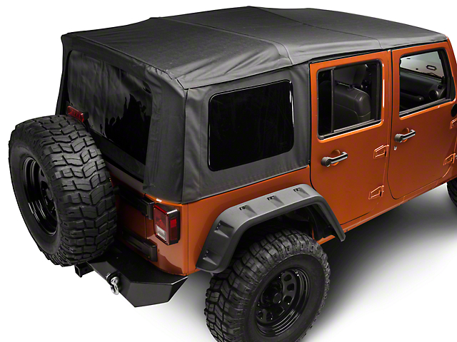 Rugged Ridge XHD Replacement Soft Top with Spring Assist and Tinted Windows; Black Diamond (07-09 Jeep Wrangler JK 4 Door)
