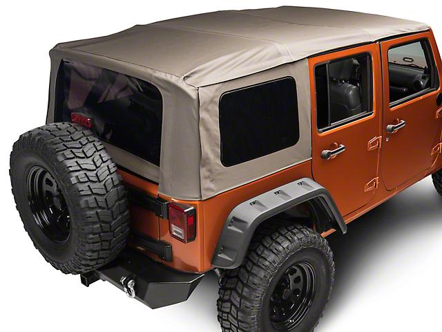 Rugged Ridge XHD Soft Top w/ Spring Assist - Khaki Diamond (07-09 Jeep Wrangler JK 4 Door)