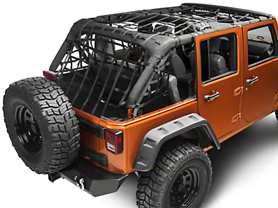 Rugged Ridge Cargo Net - Black (07-18 Jeep Wrangler JK 4 Door)