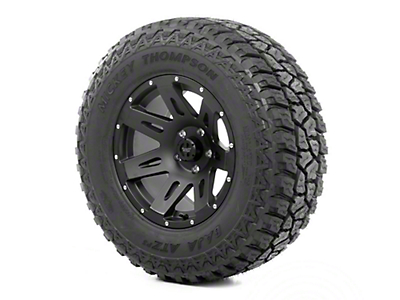Rugged Ridge XHD Wheel 17x9 Black Satin and Mickey Thompson ATZ P3 315/70R17 Tire (07-12 Wrangler JK)