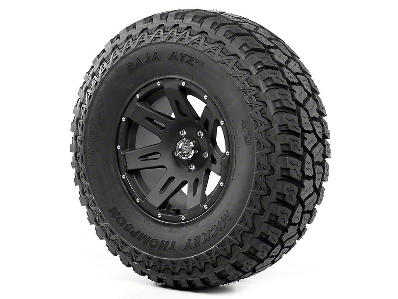 Rugged Ridge XHD Wheel 17x9 Black Satin and Mickey Thompson ATZ P3 37x12.50x17 Tire (07-12 Wrangler JK)