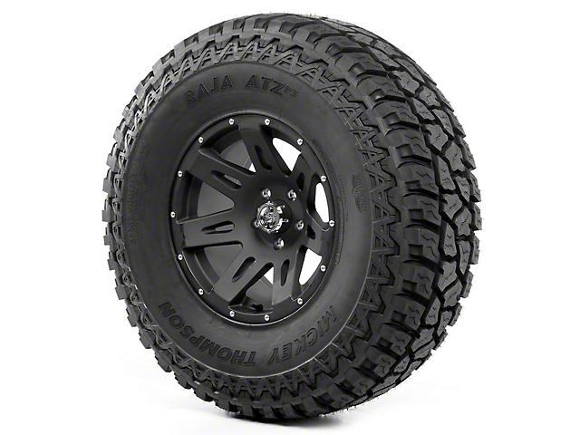 Rugged Ridge XHD Black Satin 17x9 Wheel & Mickey Thompson ATZ P3 37x12.50R17 Tire Kit (07-18 Jeep Wrangler JK)