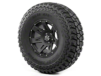 Rugged Ridge XHD Wheel 17x9 Black Satin and Mickey Thompson ATZ P3 37x12.50x17 Tire (07-12 Jeep Wrangler JK)