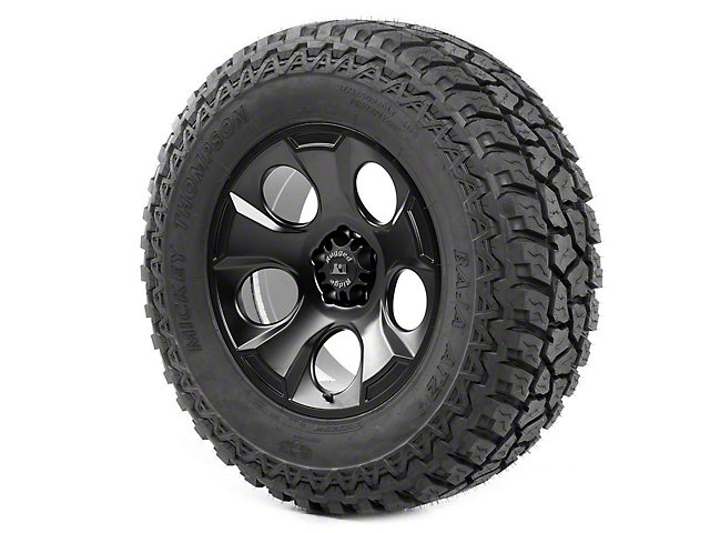 Rugged Ridge Drakon Wheel 20x9 Black Satin and Mickey Thompson ATZ P3 37x12.50x20 Tire (07-18 Jeep Wrangler JK)