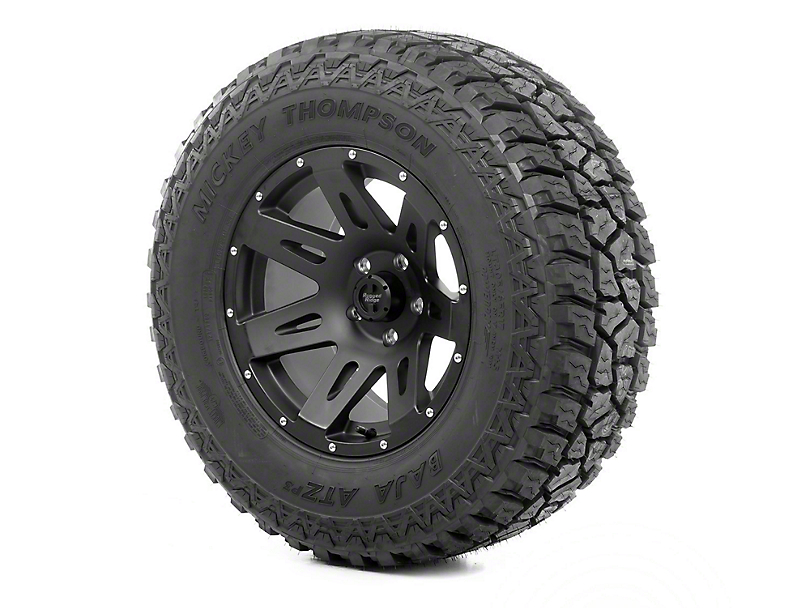 Rugged Ridge XHD Wheel 18x9 Black Satin and Mickey Thompson ATZ P3 305/60R18 Wheel - Tire (07-12 Jeep Wrangler JK)