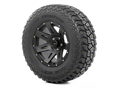 Rugged Ridge XHD Wheel 18x9 Black Satin and Mickey Thompson ATZ P3 305/60R18 Wheel - Tire (07-12 Wrangler JK)