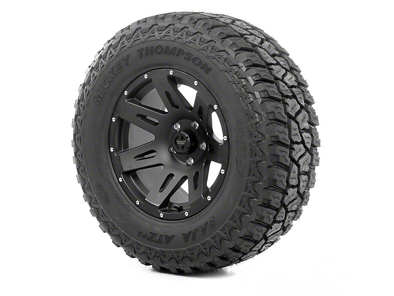 Rugged Ridge XHD Wheel 17x9 Black Satin and Mickey Thompson ATZ P3 315/70R17 Tire (07-18 Jeep Wrangler JK)