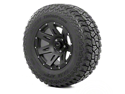 Rugged Ridge XHD Wheel 17x9 Black Satin and Mickey Thompson ATZ P3 315/70R17 Tire (13-17 Wrangler JK)