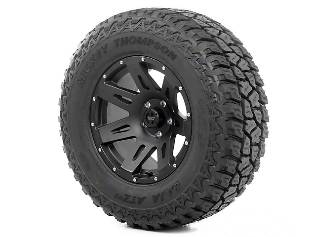 Rugged Ridge XHD Wheel 18x9 Black Satin and Mickey Thompson ATZ P3 305/60R18 Wheel - Tire (07-18 Jeep Wrangler JK)