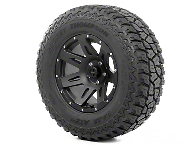 Rugged Ridge XHD Wheel 18x9 Black Satin and Mickey Thompson ATZ P3 305/60R18 Wheel - Tire (13-18 Jeep Wrangler JK; 2018 Jeep Wrangler JL)