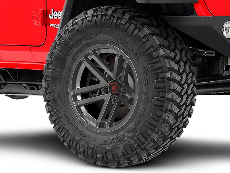 Rugged Ridge Jesse Spade Satin Gun Metal Gray Wheel - 17x9 (18-19 Jeep Wrangler JL)