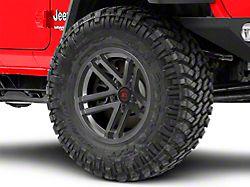 Rugged Ridge Jesse Spade Satin Gun Metal Gray Wheel; 17x9 (18-20 Jeep Wrangler JL)