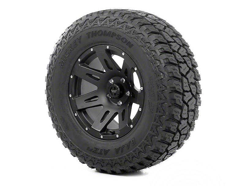 Rugged Ridge XHD Black Satin 17x9 Wheel & Mickey Thompson ATZ P3 305/65R17 Tire Kit (07-18 Jeep Wrangler JK)