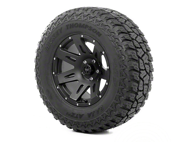 Rugged Ridge XHD Black Satin 17x9 Wheel & Mickey Thompson ATZ P3 305/65R17 Tire Kit (07-18 Jeep Wrangler JK)