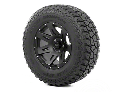 Rugged Ridge XHD Wheel 17x9 Black Satin and Mickey Thompson ATZ P3 305/65R17 Tire (13-18 Jeep Wrangler JK; 2018 Jeep Wrangler JL)