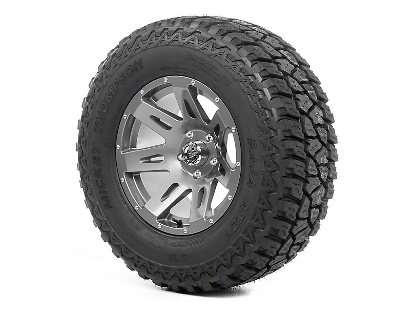 Rugged Ridge XHD Gun Metal 17x9 Wheel & Mickey Thompson ATZ P3 305/65R17 Tire Kit (07-18 Jeep Wrangler JK)
