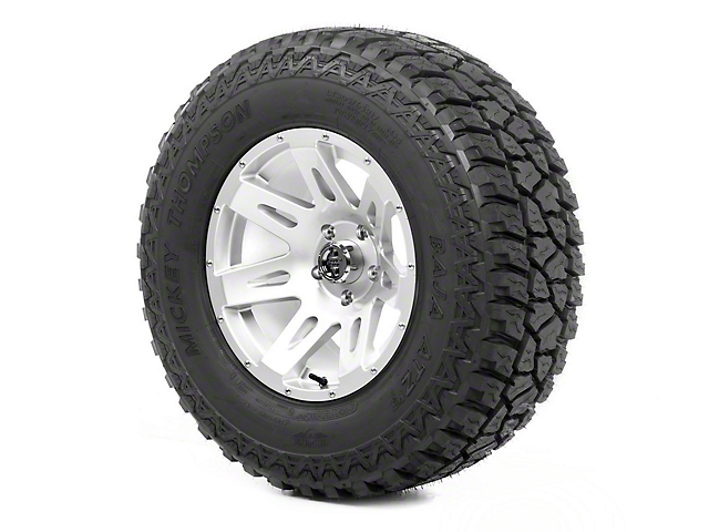 Rugged Ridge XHD Silver 17x9 Wheel & Mickey Thompson ATZ P3 305/65R17 Tire Kit (07-18 Jeep Wrangler JK)