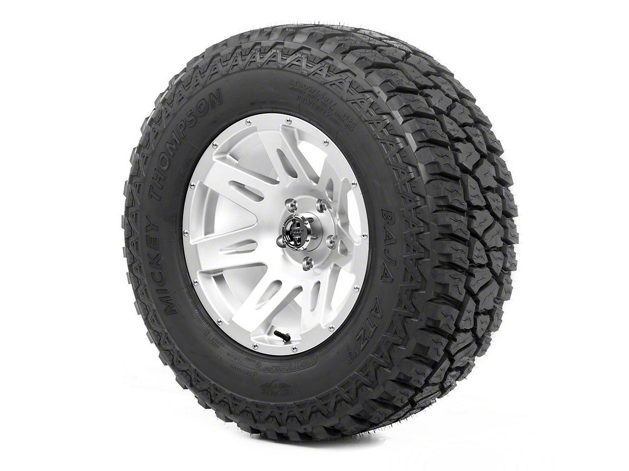 Rugged Ridge XHD Wheel 17x9 Silver and Mickey Thompson ATZ P3 305/65R17 Tire (13-18 Jeep Wrangler JK; 2018 Jeep Wrangler JL)
