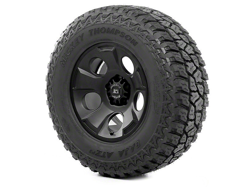 Rugged Ridge Drakon Black Satin 17x9 Wheel & Mickey Thompson ATZ P3 305/65R17 Tire Kit (07-18 Jeep Wrangler JK)