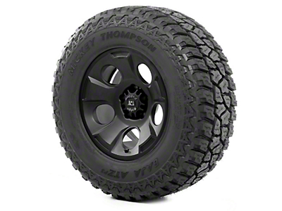 Rugged Ridge Drakon Wheel 17x9 Black Satin and Mickey Thompson ATZ P3 305/65R17 Tire (13-18 Wrangler JK)