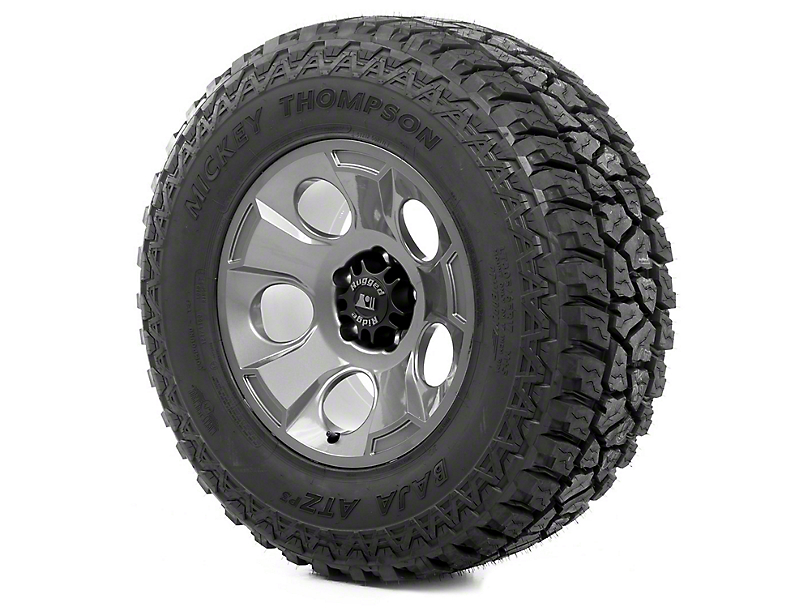 Rugged Ridge Drakon Gun Metal 17x9 Wheel & Mickey Thompson ATZ P3 305/65R17 Tire Kit (07-18 Jeep Wrangler JK)