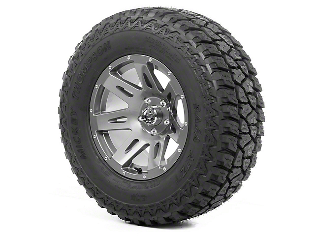 Rugged Ridge XHD Wheel 17x9 Gun Metal and Mickey Thompson ATZ P3 315/70R17 Tire (07-18 Jeep Wrangler JK)