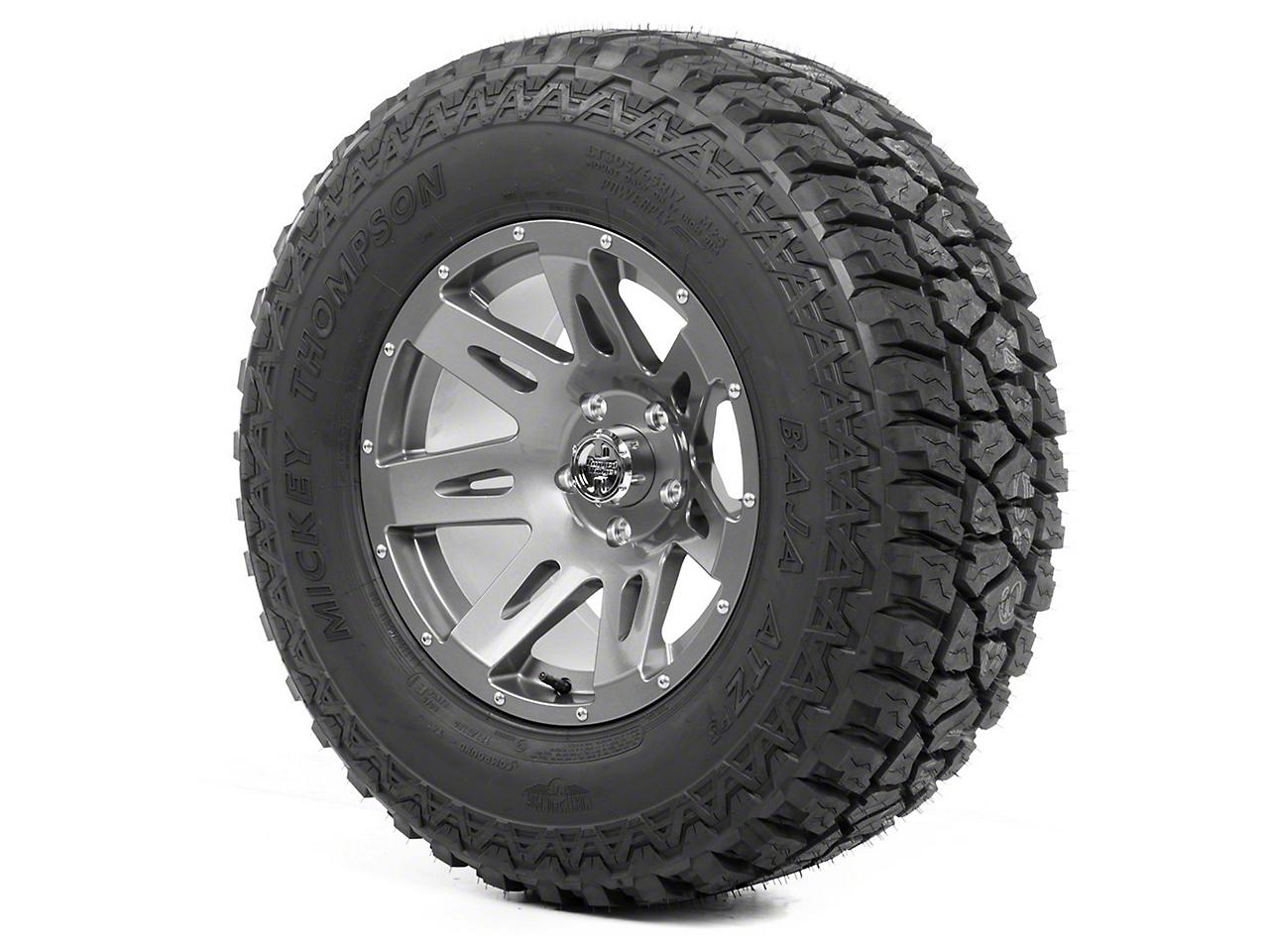 Rugged Ridge XHD Wheel 17x9 Gun Metal and Mickey Thompson ATZ P3 315/70R17 Tire (13-18 Wrangler JK)