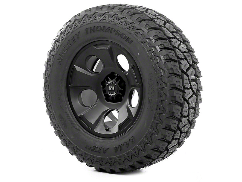 Rugged Ridge Drakon Wheel 17x9 Black Satin and Mickey Thompson ATZ P3 315/70R17 Tire (07-18 Jeep Wrangler JK)