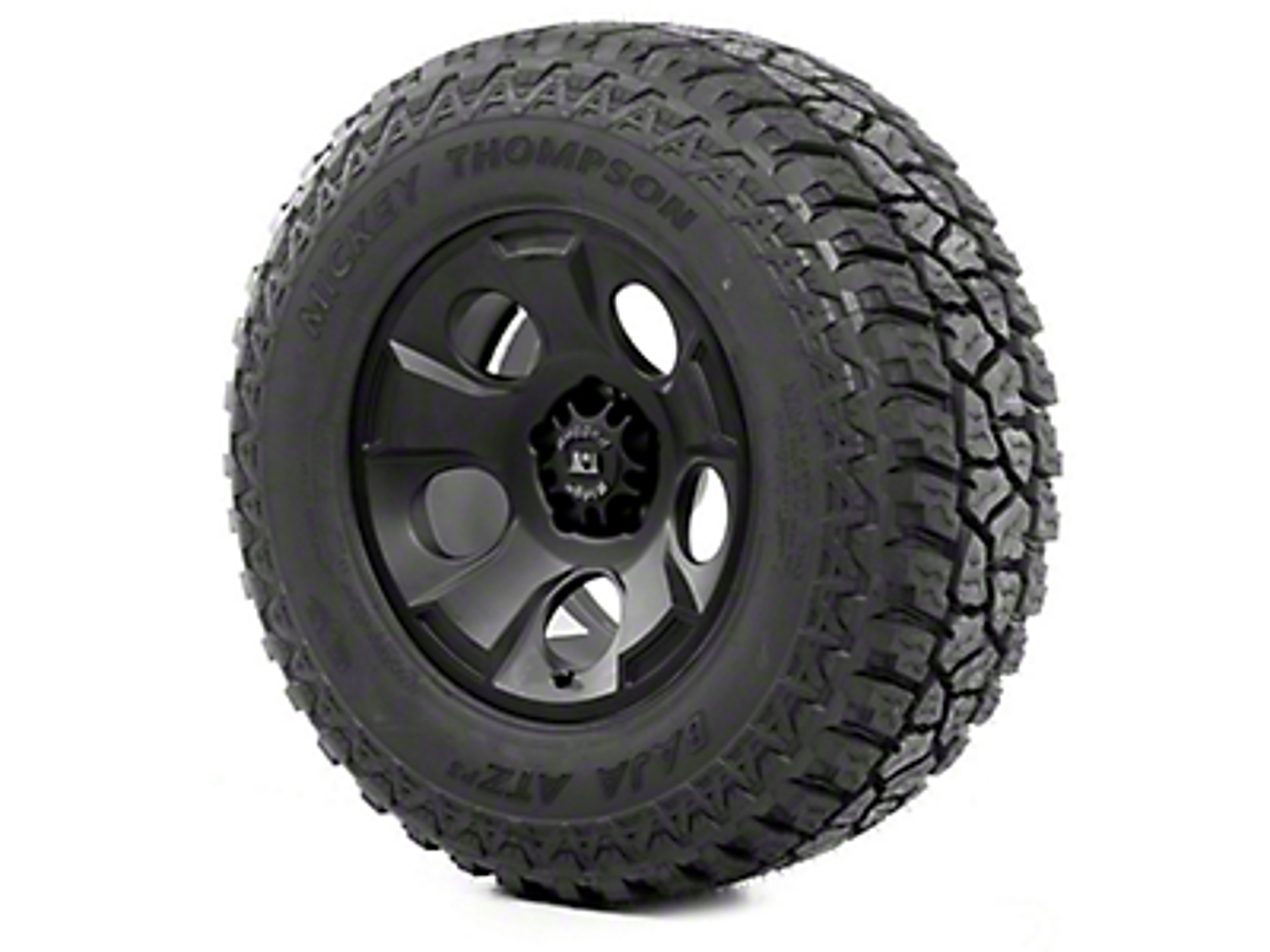 Rugged Ridge Drakon Wheel 17x9 Black Satin and Mickey Thompson ATZ P3 315/70R17 Tire (13-18 Wrangler JK; 2018 Wrangler JL)