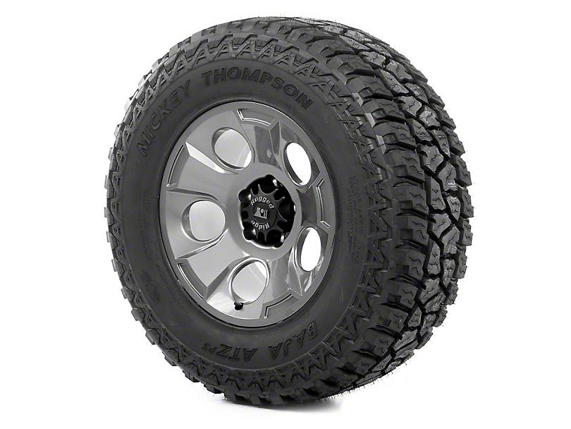 Rugged Ridge Drakon Gun Metal 17x9 Wheel & Mickey Thompson ATZ P3 315/70R17 Tire Kit (07-18 Jeep Wrangler JK)