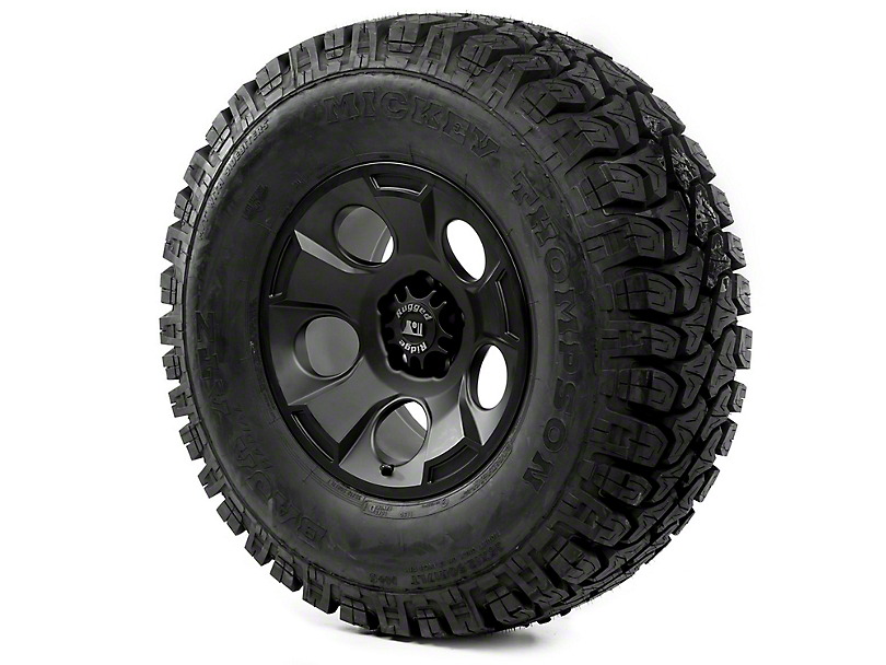 Rugged Ridge Drakon Black Satin 17x9 Wheel & Mickey Thompson ATZ P3 35x12.50R17 Tire Kit (07-18 Jeep Wrangler JK)