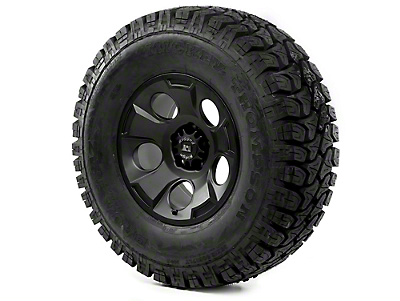 Rugged Ridge Drakon Wheel 17x9 Black Satin and Mickey Thompson ATZ P3 35x12.50x17 Tire (13-17 Wrangler JK)