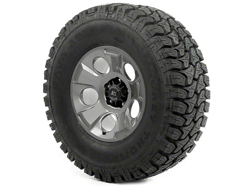 Rugged Ridge Drakon Wheel 17x9 Gun Metal and Mickey Thompson ATZ P3 35x12.50x17 Tire (07-18 Jeep Wrangler JK)