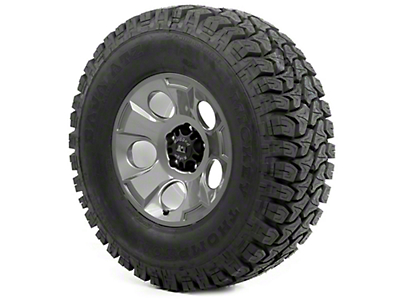 Rugged Ridge Drakon Wheel 17x9 Gun Metal and Mickey Thompson ATZ P3 35x12.50x17 Tire (13-18 Jeep Wrangler JK; 2018 Jeep Wrangler JL)