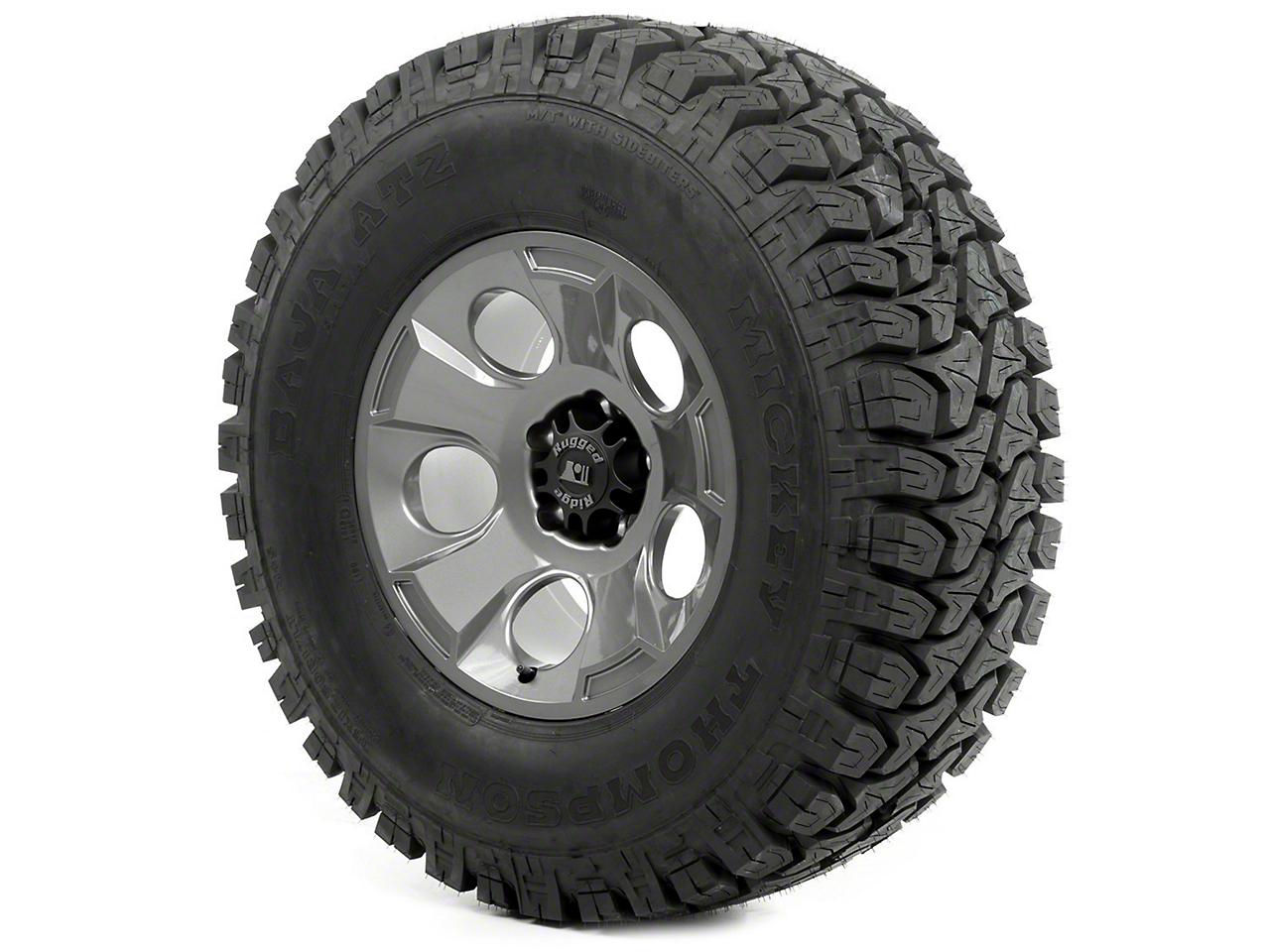 Rugged Ridge Drakon Wheel 17x9 Gun Metal and Mickey Thompson ATZ P3 35x12.50x17 Tire (13-18 Wrangler JK)