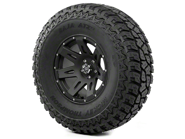 Rugged Ridge XHD Satin Black 17x9 Wheel and Mickey Thompson ATZ P3 37x12.50R17 Tire Kit (07-18 Jeep Wrangler JK)
