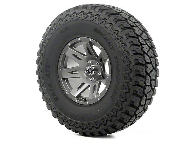 Rugged Ridge XHD Gun Metal 17x9 Wheel & Mickey Thompson ATZ P3 37x12.50R17 Tire Kit (07-18 Jeep Wrangler JK)