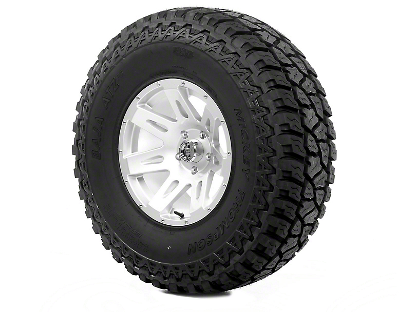 Rugged Ridge XHD Wheel 17x9 Silver and Mickey Thompson ATZ P3 37x12.50x17 Tire (13-18 Jeep Wrangler JK; 2018 Jeep Wrangler JL)