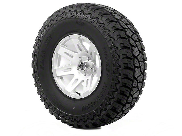 Rugged Ridge XHD Silver 17x9 Wheel & Mickey Thompson ATZ P3 37x12.50R17 Tire Kit (07-18 Jeep Wrangler JK)