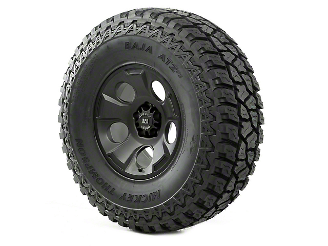 Rugged Ridge Drakon Black Satin 17x9 Wheel & Mickey Thompson ATZ P3 37x12.50R17 Tire Kit (07-18 Jeep Wrangler JK)