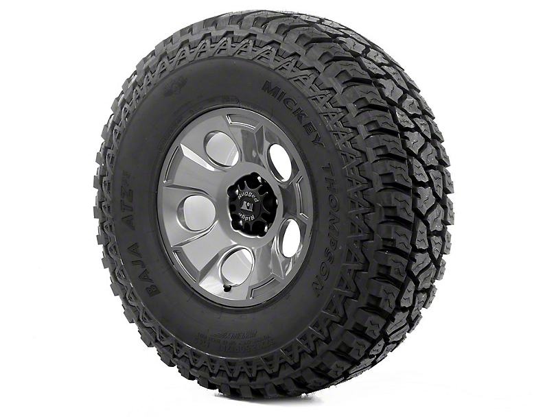 Rugged Ridge Drakon Gun Metal 17x9 Wheel & Mickey Thompson ATZ P3 37x12.50R17 Tire Kit (07-18 Jeep Wrangler JK)