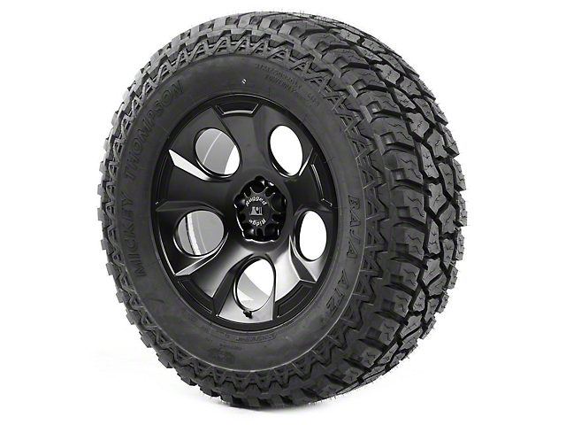 Rugged Ridge Drakon Black Satin 20x9 Wheel & Mickey Thompson ATZ P3 37x12.50R20 Tire Kit (07-18 Jeep Wrangler JK)
