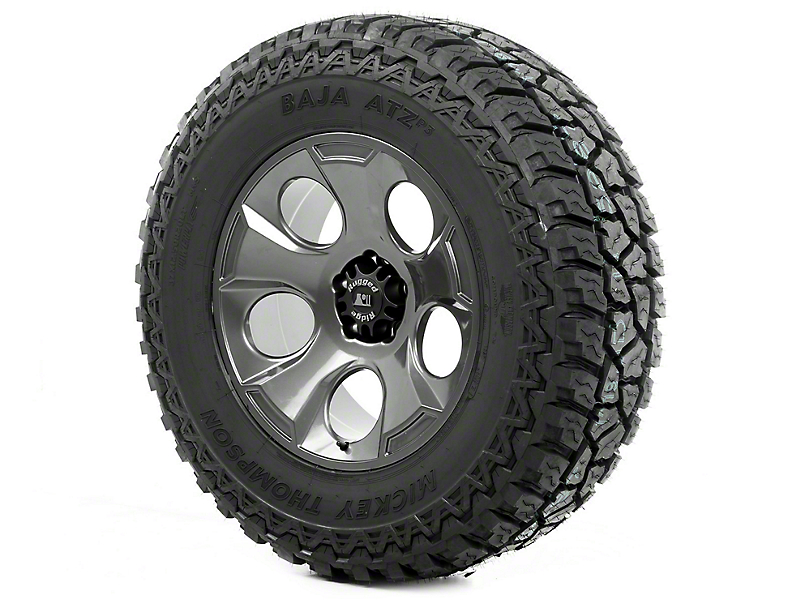 Rugged Ridge Drakon Gun Metal 20x9 Wheel & Mickey Thompson ATZ P3 37x12.50R20 Tire Kit (07-18 Jeep Wrangler JK)