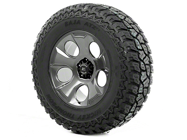 Rugged Ridge Drakon Gun Metal 20x9 Wheel & Mickey Thompson ATZ P3 37x12.50R20 Tire Kit (07-18 Jeep Wrangler JK)