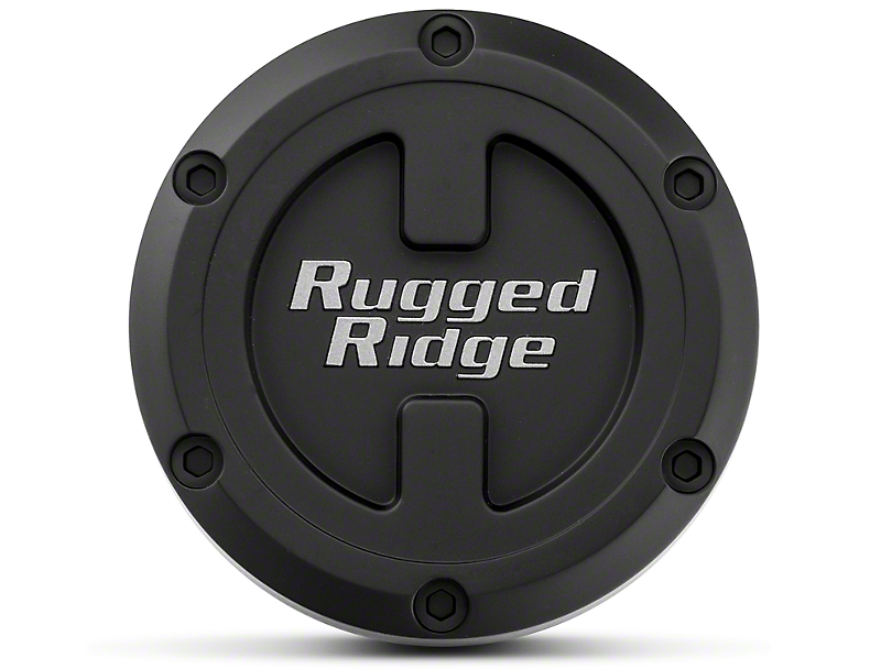 Rugged Ridge 17x9 XHD Wheel Center Cap - Black (07-20 Jeep Wrangler JK & JL)