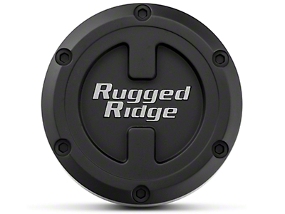 Rugged Ridge 17x9 XHD Wheel Center Cap - Black (07-17 Wrangler JK)